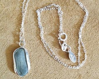 Oregon beach pebble necklace