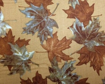 Kanvas FALL LEAVES (North by Northwest) 100% Prem Cotton Quilt Fabric-per 1/2 yd