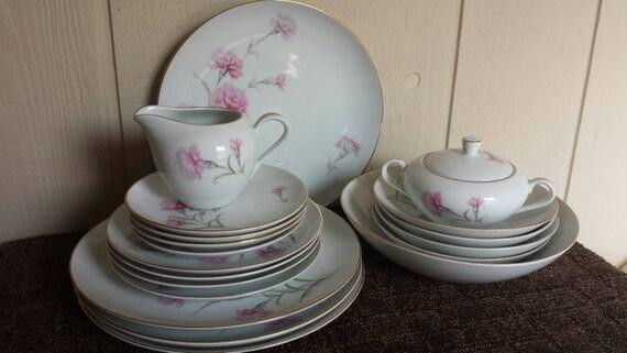 Spring SALE China Dinnerware Set Royal Court By Ageandartvintage