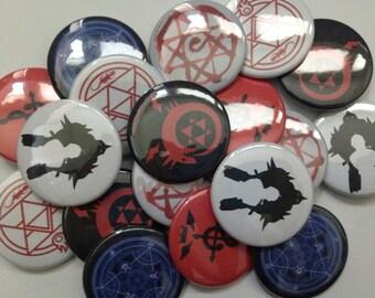 Fullmetal Alchemist 1.5in Buttons