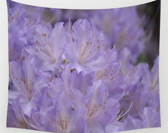Wall Tapestry - Blooming Purple Rhododendron - Home Decor - Wall Decor, Modern, Home Warming Gift, Symmetry