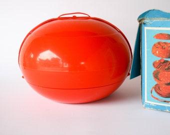 Vintage 1970's  Pic-Nic Set - SVB - Spazio Zero - pvc - orange -  L'Utopie Du Tout Plastique