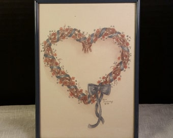shop heart wreath frame in visual arts