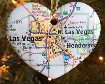 Las Vegas Map Ornament