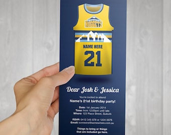 EDITABLE NBA Denver Nuggets Invitation