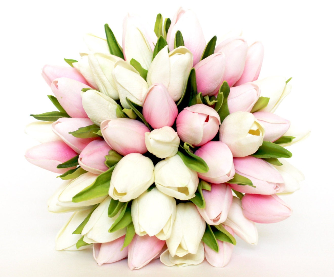 Brudebuketten Tulip Pink brudebuketten Pink og hvid-4183
