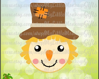 Scarecrow Face Design Ready to Personalize Instant Download Zip File Full Color SVG, EPS, DXF, High Quality 300 dpi Jpeg & Png formats