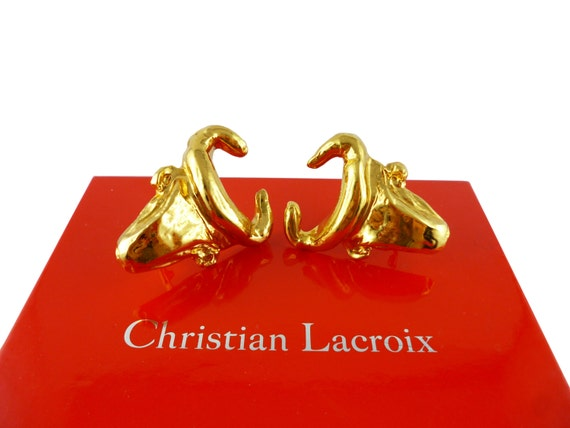 Christian lacroix gorgeous rare vintage massive bull head - Boutique christian lacroix ...