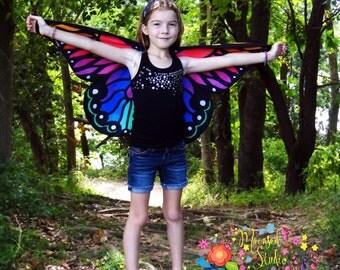 Butterfly wings, rainbow butterfly, butterfly costume, fairy wings