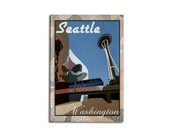 """Magnet: Seattle, WA 2 1/8"""" x 3 1/8"""""""