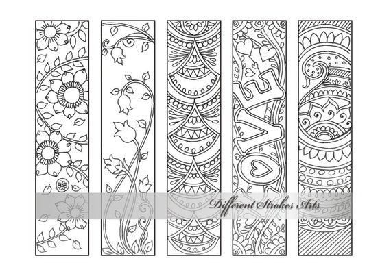 Coloring bookmarks bookmark coloring