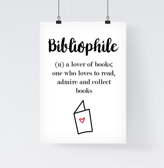 Bibliophile Print Definition Book Lover Tumblr Poster Meaning