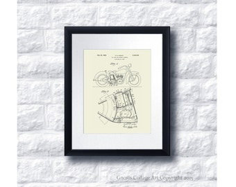Harley Davidson Poster Patent Art no.C2 Wall Art Print, Harley Davidson Home Decor, Harley Gift Idea, Gift for him, Gift for Biker