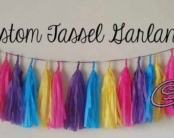 Custom Tissue Tassel Garland (4 FOOT)