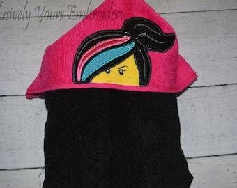 Lucy Hooded Towel - Baby Towel - Childrens Hood Towel - Bath Towel - Beach Towel - Personalized Towel - Character Towel