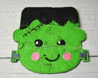 Frankenstein Puzzle w/Storage Pouch, Quiet Game, Toddler Toy, Travel Toy, Party Favor