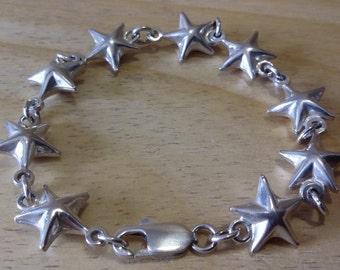 Braccialetto in argento 925, italiano, con motivo a stella.