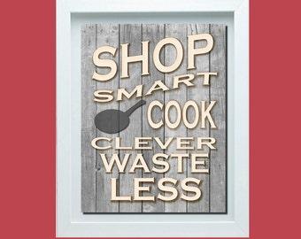 Shabby Chick Kitchen Wall Art, Shabby Chick Poster, Kitchen Wall Art, Rustic Decor, Shabby Chick Decor, Kitchen Poster, Retro Kitchen Poster