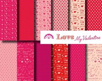 Digital Paper Love