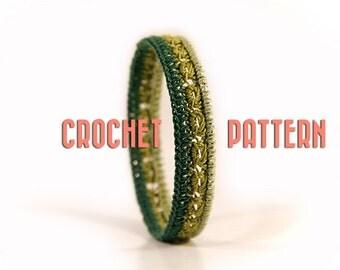 DIY gift - Crochet pattern - diy gift ideas - Crochet bracelet - bangle - crochet jewelry - MudenoMade
