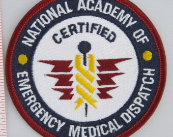 National Academy of Emergency Medical Dispatch Sew On Patch - EMS Sew-On Patch - Paramedic Sew On Patch - Embroidered Applique Patch