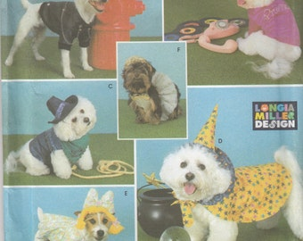 Simplicity Crafts 9884 Dog Coats & Costumes Sewing Pattern - Uncut Sewing Pattern - Craft Sewing Pattern - Pet Clothes Sewing Pattern