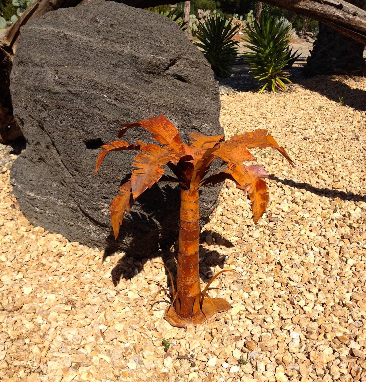 Palm Tree Metal Yard Art Garden Art Metal Garden by ... on Backyard Metal Art id=65254