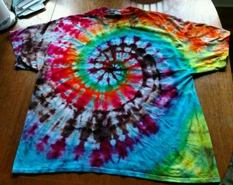 Made to Order Spiral Ice or Tie Dye Trippy Tee Shirt ALL SIZES
