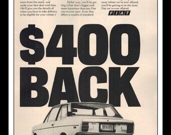 "Vintage Print Ad June 1977 : '76 Fiat 131 Cars Automobile Wall Art Decor 8.5"" x 11"" Advertisement"