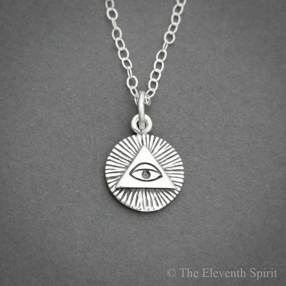 All Seeing Eye Necklace Illuminati Necklace By Bijoubright