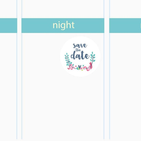 Diy Printable Save The Date Icon Planner By Pixelperfectpaper