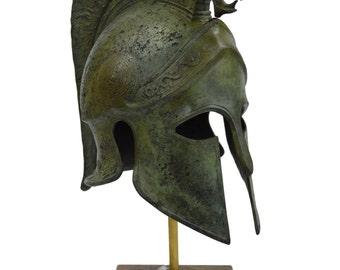 Bronze Griffin Helmet Ancient Greek marble based Great helmet