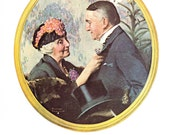 The Old Couple by Norman Rockwell for the cover of Literary Digest April 15, 1922