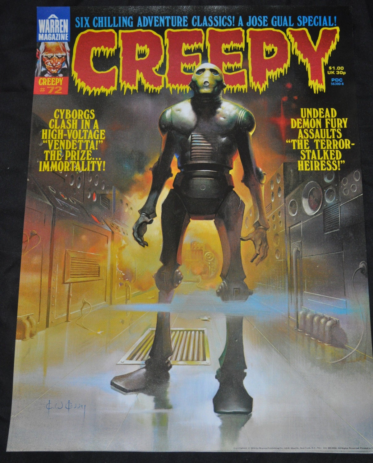 Warren Promotional Creepy 72 Magazine Poster Cover NM Old