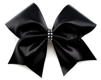 Metallic Black Cheer Bow