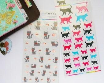 Kitty Stickers (1 sheet)