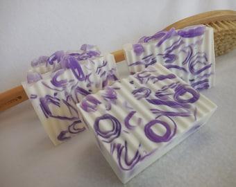 Black Raspberry Vanilla SOAP LOAF- Glycerin Gift Soap - Handmade Purple Soap - Moisturizing Shea Butter Soap - Unique Homemade Bulk Soap