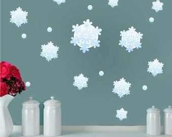 Snow Window And Wall Decals Snowflake Stickers, Snow For Windows, Reusable Snowflake  Wall Decor