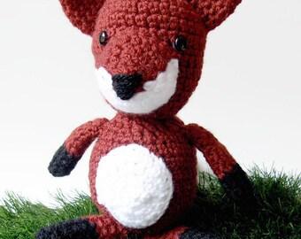 Stuffed fox crochet plush