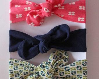 Baby Headband Set - SET OF 3 -  Baby Headbands - Stretch Headband,Baby Girl Headbands,Baby Knot Headwrap,Baby Turban Headband,Baby Headwrap