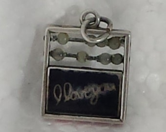 Vintage Sterling Silver  Abacus Charm