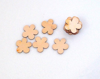 Set of flowers, 10 Wooden flowers, laser cut wood, laser engraved, christmas decoration, wood cutout, crafting material, decoration supplies