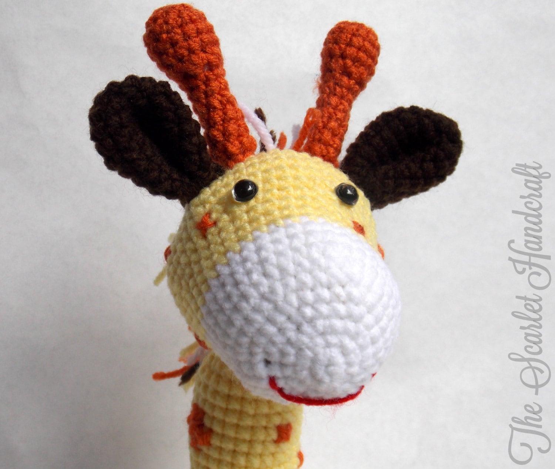 Cuddly Amigurumi Giraffe : Crochet Giraffe. Amigurumi Giraffe. Stuffed Animal. Made to