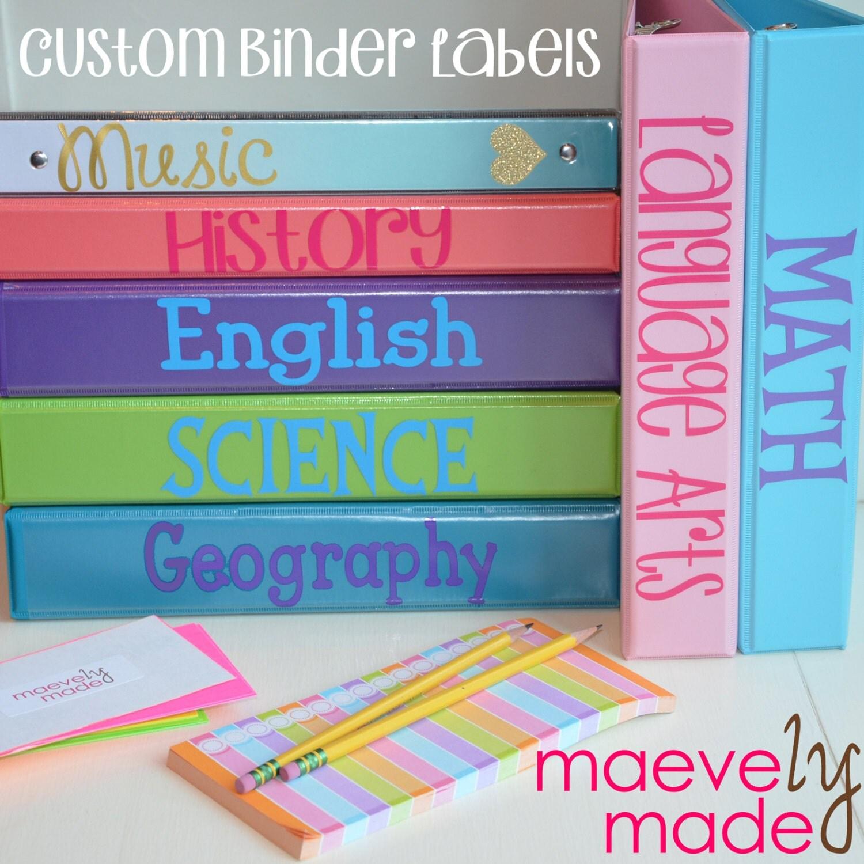 labels binders