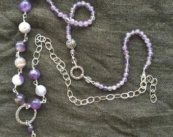 Celtic Motherhood Knot Asymmetrical necklace