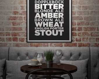 CRAFT BEER - Subway Art Print