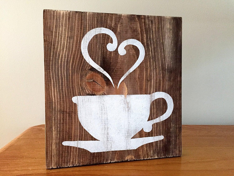 Rustic Wall Decor Kitchen Decor Coffee Decor Tea Decor