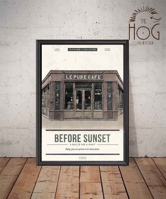BEFORE SUNSET Poster Unique Retro Movie Poster Movie