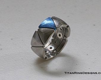 CNC Machined Multi-Piece Titanium Wedding Ring