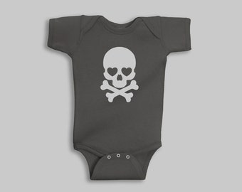 Baby Boy Clothes - Skull, Baby Boy, Skull Baby Clothes, Baby Boy Romper, Baby Shower Gift, Baby Boy Gift, Baby Outfits, Baby Bodysuit